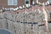 a line of soldiers